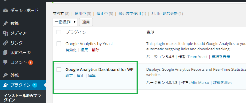 03-Google_Analytics_Dashboard_for_WP-dashboard